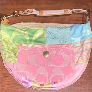 Coach poppy signature hobo purse